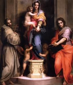 ハルピュイアの聖母 アンドレア・デル・サルト, 1517 ウフィツィ美術館, フィレンツェ