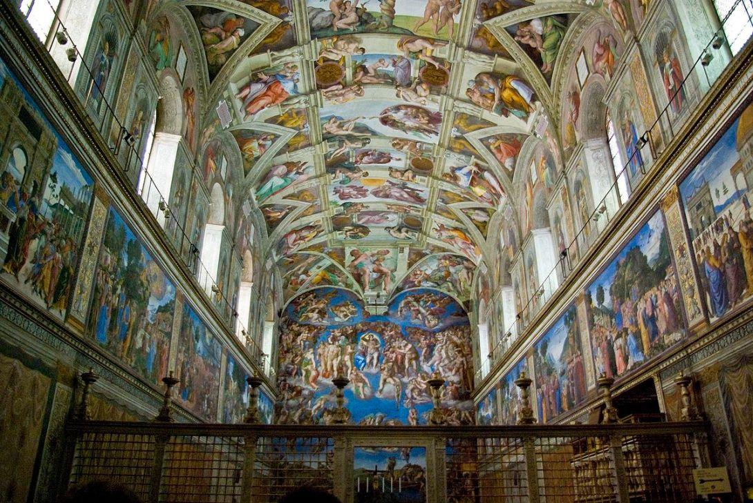 システィーナ礼拝堂 ミケランジェロ・ブオナロッティ, 16世紀前半 バチカン市国