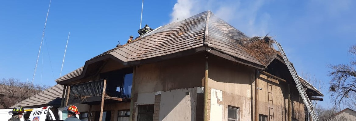 FOSA Structural Thatch Roof fire