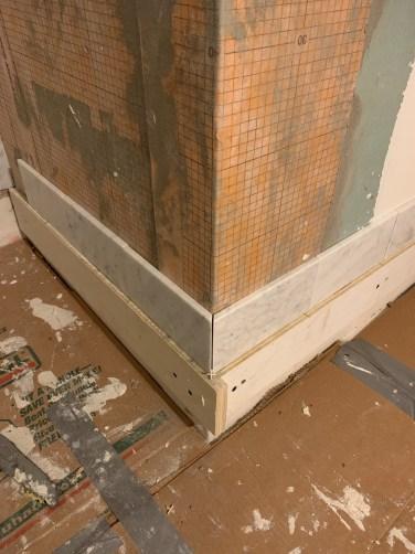 dry-fit bathroom corner