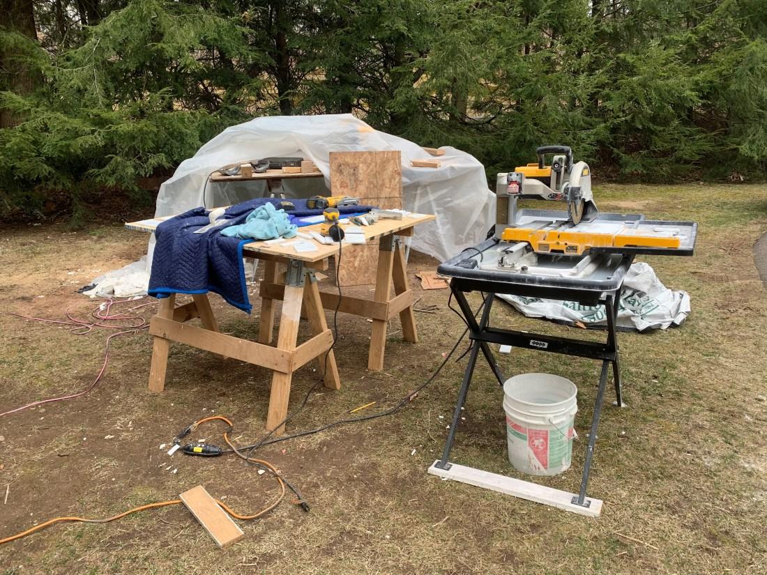Front yard tile setup_4-2-19