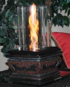 Pacific Decor Flame Fire Pot Ceramic Black Rings