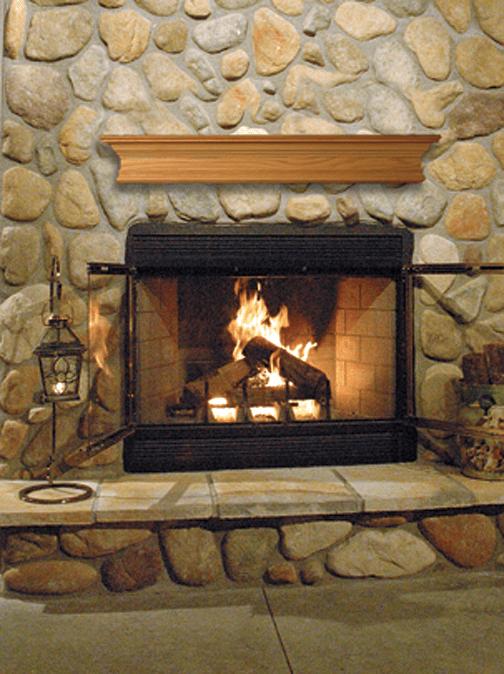 Astria Craftsman Wood Burning Fireplace