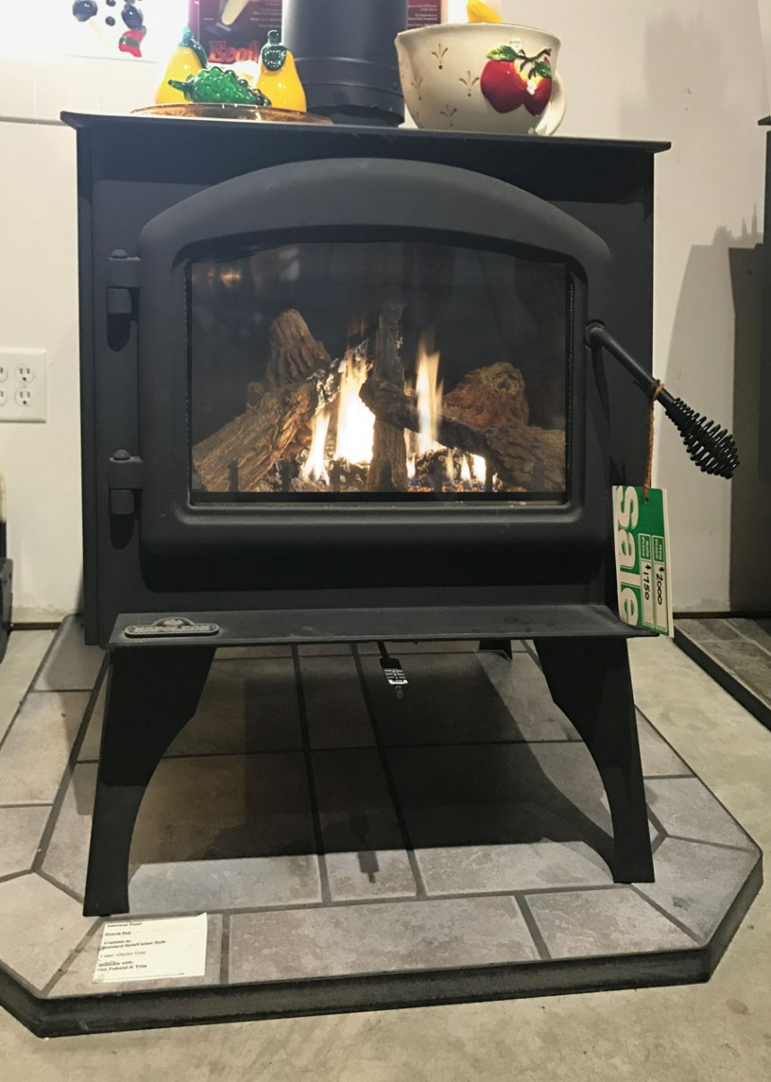 napoleon 1400 wood stove provides reliable cozy adjustable heat