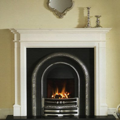 Mantel: Washington 54 Agean Limestone Insert: HE Claydon highlight