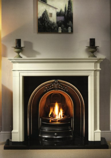 Mantel: Washington 56 Agean Limestone Arch: Broughton