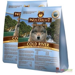 2 x 15 kg. Wolfblut Cold River Adult storkøb rabat