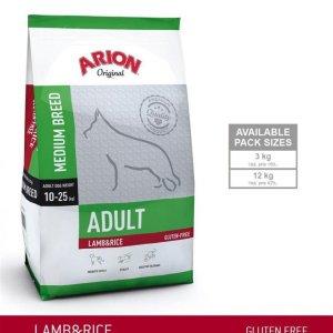 Arion Original Adult Medium Breed Hundefoder - Lam og Ris - 3kg