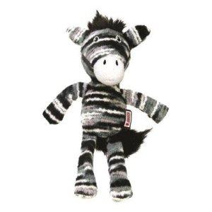 Kong Yarnimals Hundelegetøjs Bamse Zebra i Ekstra Stærkt Garn Med - 19cm - Med Pivelyd - - - -
