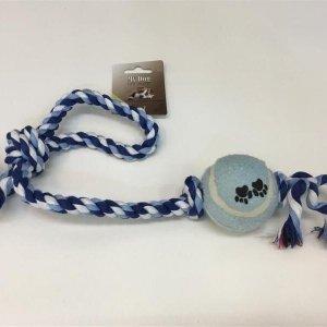 MyDog Hundelegetøjs Knudereb - Med Tennisbold - 54cm