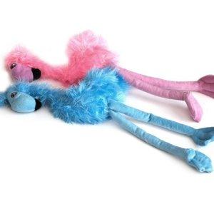 Party Pets Hundelegetøjs Bamse Flamingo - i Blødt Plys - 52cm - Med Pivelyd - - - -