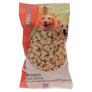 Tikki Hunde Snack Godbidder Miniben med Fjerkræ, 200g