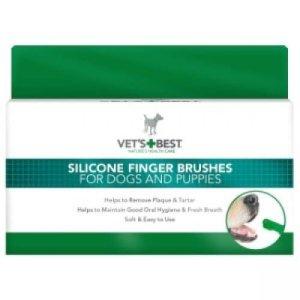 Vets Best Silikone Hunde Finger Tandbørster - 5stk