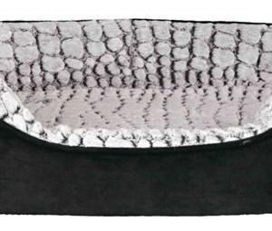 Vital Hundeseng lino, sort/grå, 110 x 92 cm