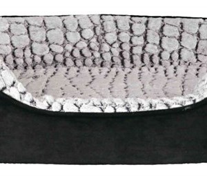 Vital Hundeseng lino, sort/grå, 60 x 45 cm