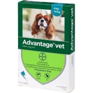Advantage Vet loppemiddel til hunde 4-10 kg