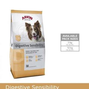 Arion Digistive Sensibility Hundefoder - Med Hjortekød og Ris - 3kg