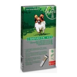 Bayvantic loppemiddel til hunde under 4 kg