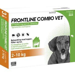 Frontline Hunde Combo Vet - Mod Lopper. Lus og Flåter - Flere Størrelser