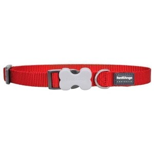 Red Dingo Halsbånd, Rød, 41-63cm