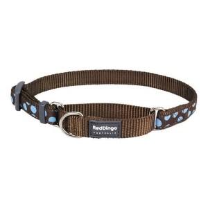 Red Dingo Halvkvæl halsbånd, Blue Spot, Large