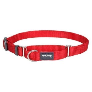 Red Dingo Halvkvæl halsbånd, Rød, 25-39cm