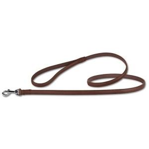 Læderline til hunde, Camel/Silver, 140 cm x 20 mm