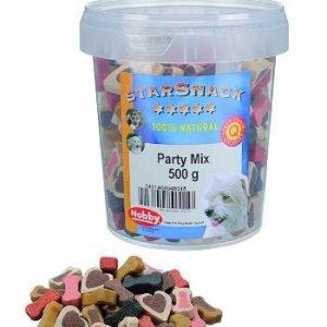 Starsnack Hunde Snack Godbidder Party Mix med Kallun, Vildt, Kylling, Oksekød og Lakseolie - Sukkerfrie - Lavt Fedt indhold - 500g