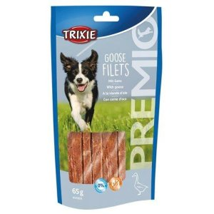 Trixie Hunde Snack Gåse Fillet - 6,5cm - 65g - Glutenfrie og Sukkerfrie