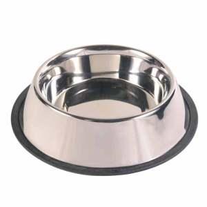 Vand- og madskål i rustfrit stål - 5 størrelser