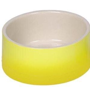 Nobby Gradient Hundeskål i Keramik - Flere Størrelser Gul