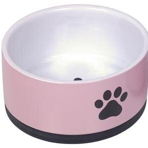 Nobby Hundeskål i Keramik - Med Pote Motiv - Flere Størrelser Pink