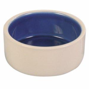 Trixie Hamster Madskål i Keramik - Creme og Blå - Ø12cm