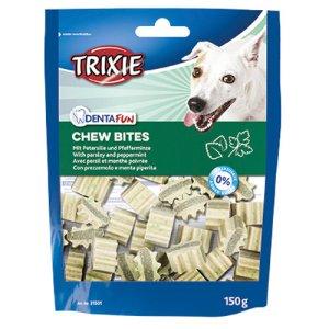 Trixie Hunde Tandpleje Snacks Godbidder med Persille og Myntsmag - 150g - Sukkerfrie - Giver Frisk Ånde