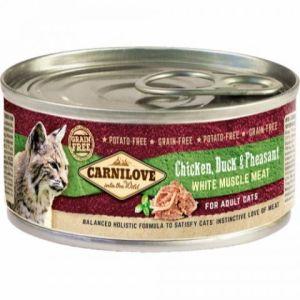 Carnilove Cat Dåsefoder Duck & Pheasant 100g