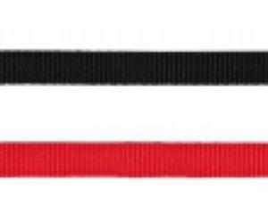 Classic hundesnor, vælg farve/størrelse Rød 1,5x120 cm