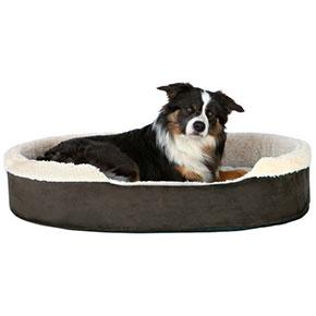 Cosma hundeseng Mørkebrun/beige, flere størrelser 100x75 cm