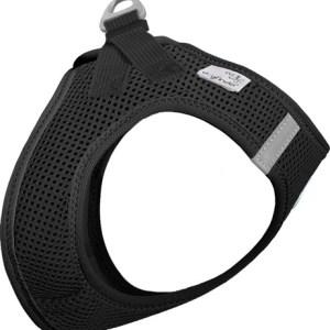 Curli Vest sele Air-mesh Sort, vælg størrelse 3XS Brystmål 24-28 cm