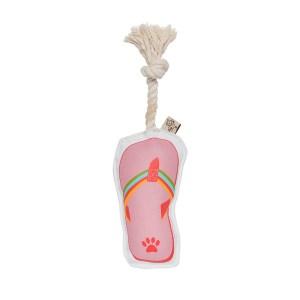 Hundelegetøj - flip flop med reb
