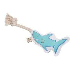 Hundelegetøj - haj med tov
