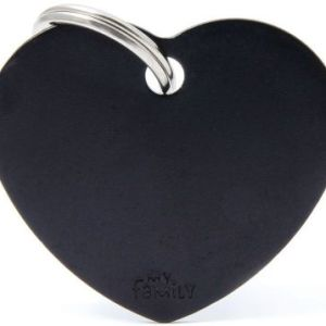 Hundetegn Basic Aluminium Big heart sort