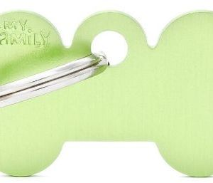 Hundetegn Basic Aluminium Small bone grøn*