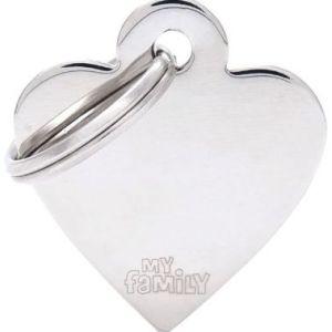 Hundetegn Basic Chrom Small heart