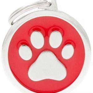 Hundetegn Classic Paw Big circle rød