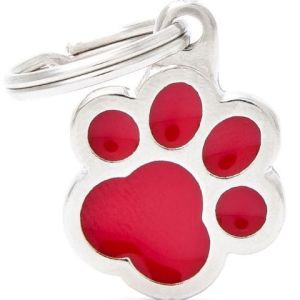 Hundetegn Classic Small Paw rød