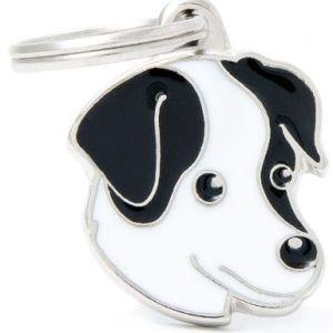 Hundetegn Friends Jack Russel sort & hvid