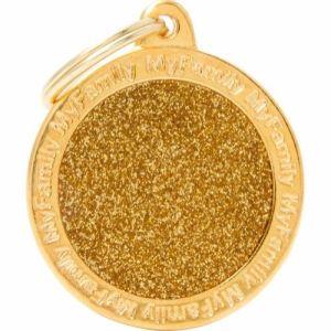 Hundetegn Shine Gold Big circle