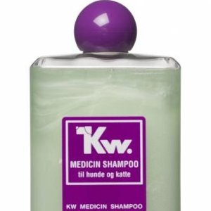 Kw Medicin Hunde og Katte Shampoo - Perfumefri - Mod Skæl, Tør Hud og Kløe - 500ml - - - -