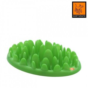 Northmate Green Hunde Foderbræt - Med Spis Langsomt Funktion - Grøn