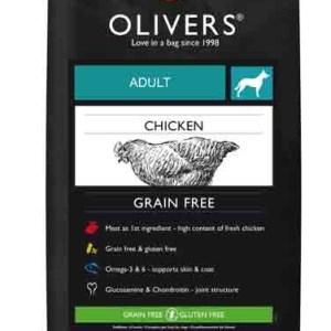 OLIVERS ADULT CHICKEN GRAIN FREE, LARGE - 12 kg